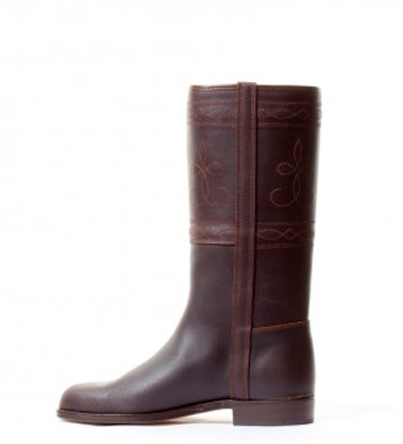 marrón de Campero Valverde chocolate Bota Herce piel campera w7ngYxUP