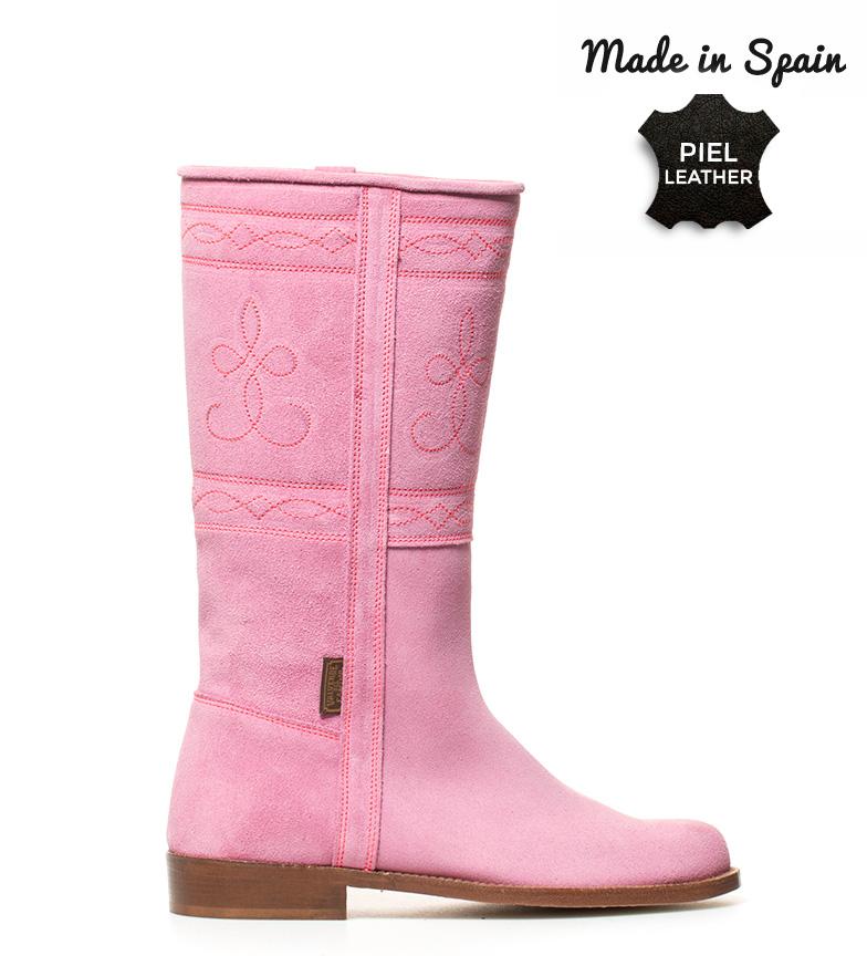Comprar Herce Valverde Campero bota de camurça jaqueta rosa