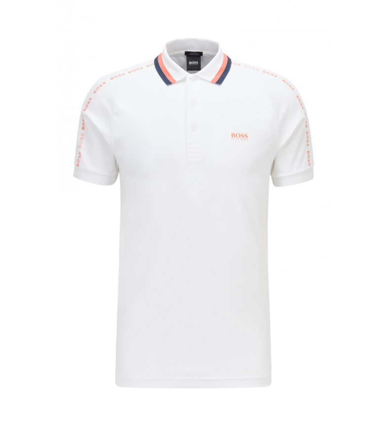 Comprar Hugo Boss Slim Fit Cotton Polo Shirt with white striped collar