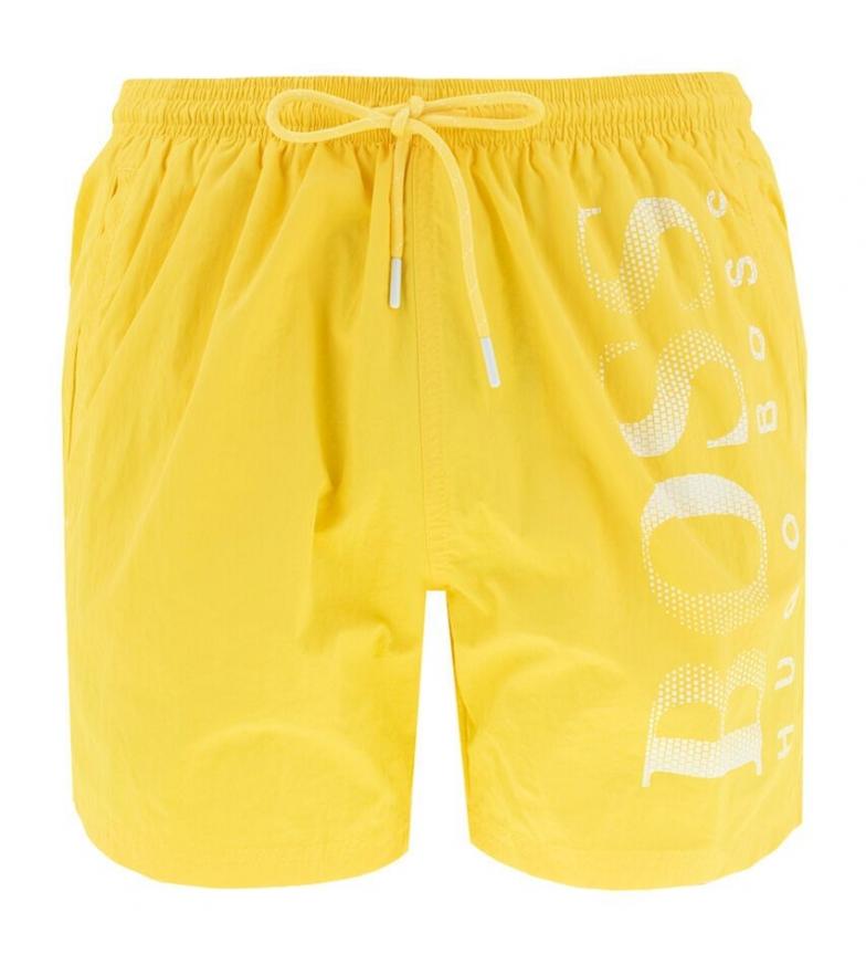 Hugo Boss Octopus yellow swimsuit