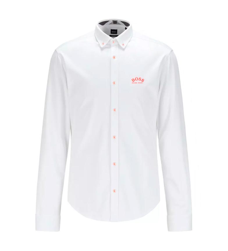 Hugo Boss Camisa Regular Fit Logo blanco
