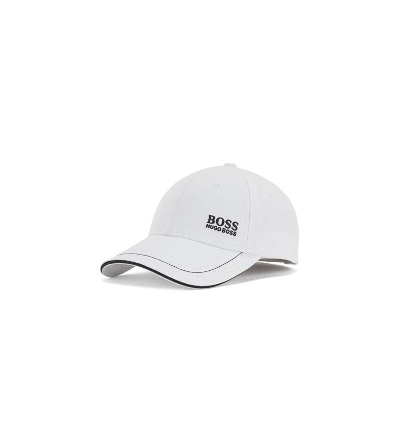 Hugo Boss Cappellino da baseball in twill di cotone con logo ricamato bianco