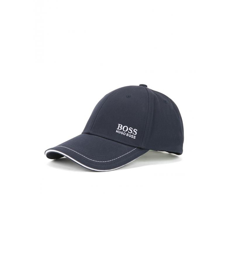 Hugo Boss Berretto in cotone con logo marino