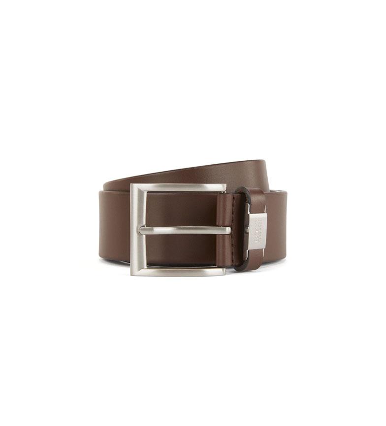 Comprar Hugo Boss Cinturón de piel Connio marrón