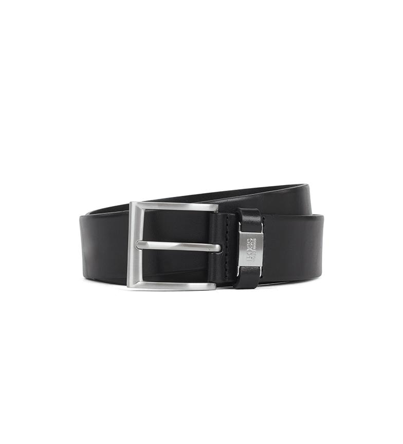 Hugo Boss Cintura in pelle Connio nera