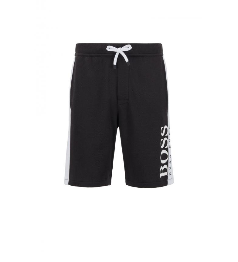 Comprar Hugo Boss Homewear Shorts in misto cotone con doppia maglia nera