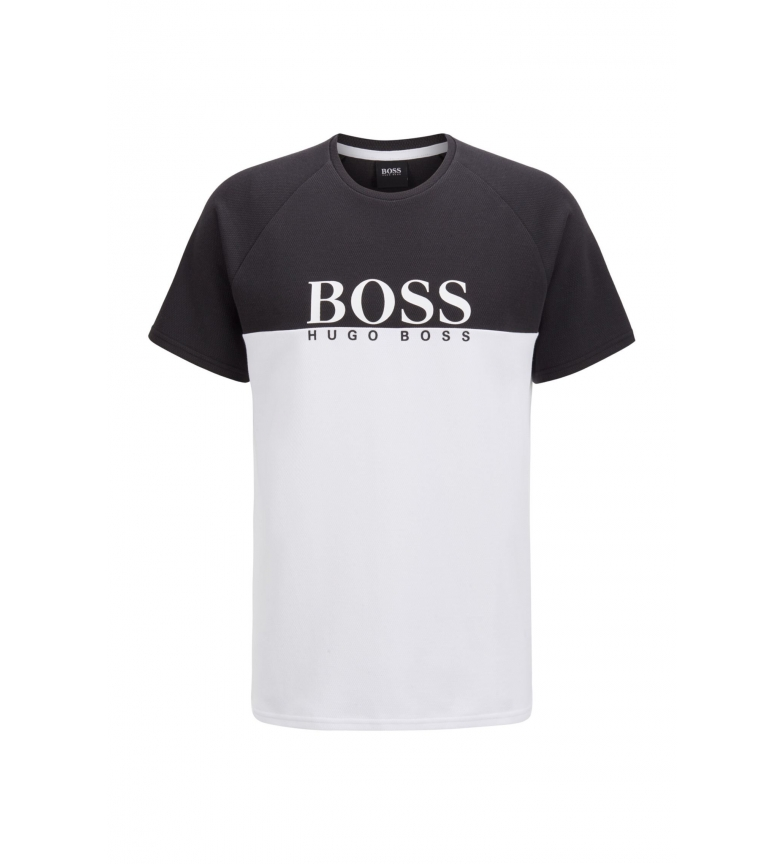 Comprar Hugo Boss Camiseta Homewear en Punto Doble Jacquard negro, blanco