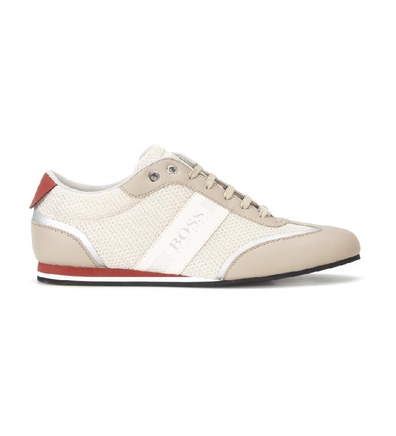 Hugo Boss Sneakers Low Top in rete e tessuto gommato beige