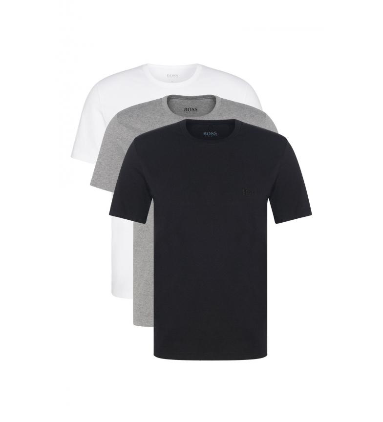 Comprar Hugo Boss Pack de 3 T-Shirts 50325385 branco, cinza, preto