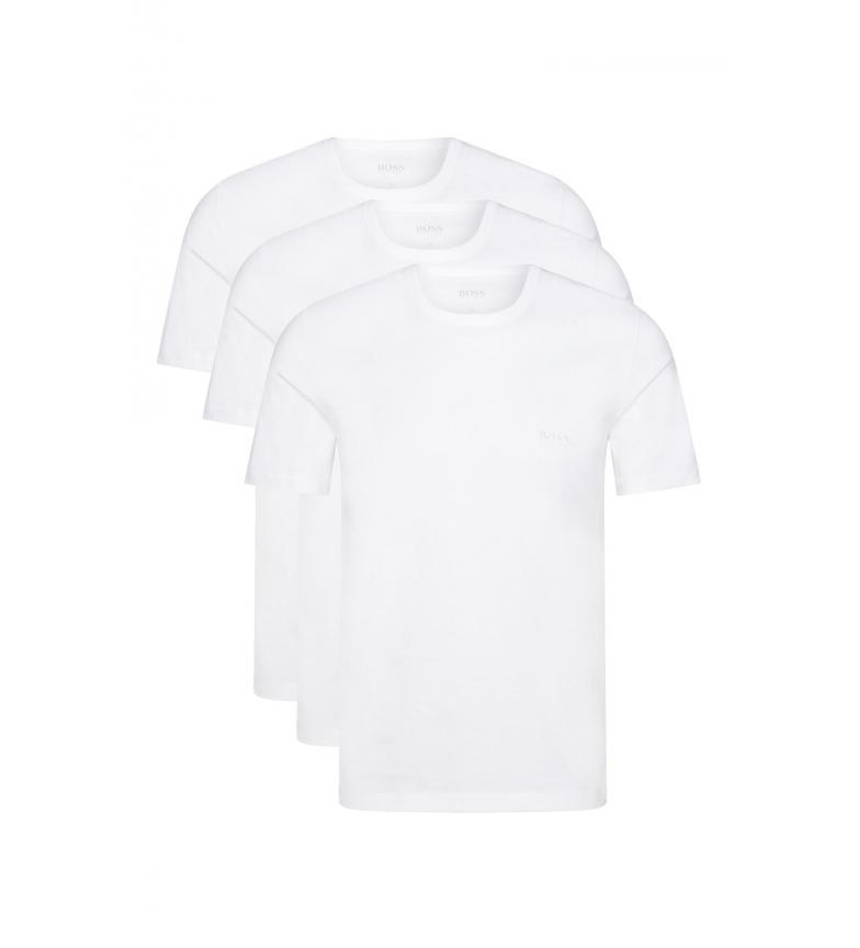Comprar Hugo Boss Pack of 3 white Cotton Undershirts