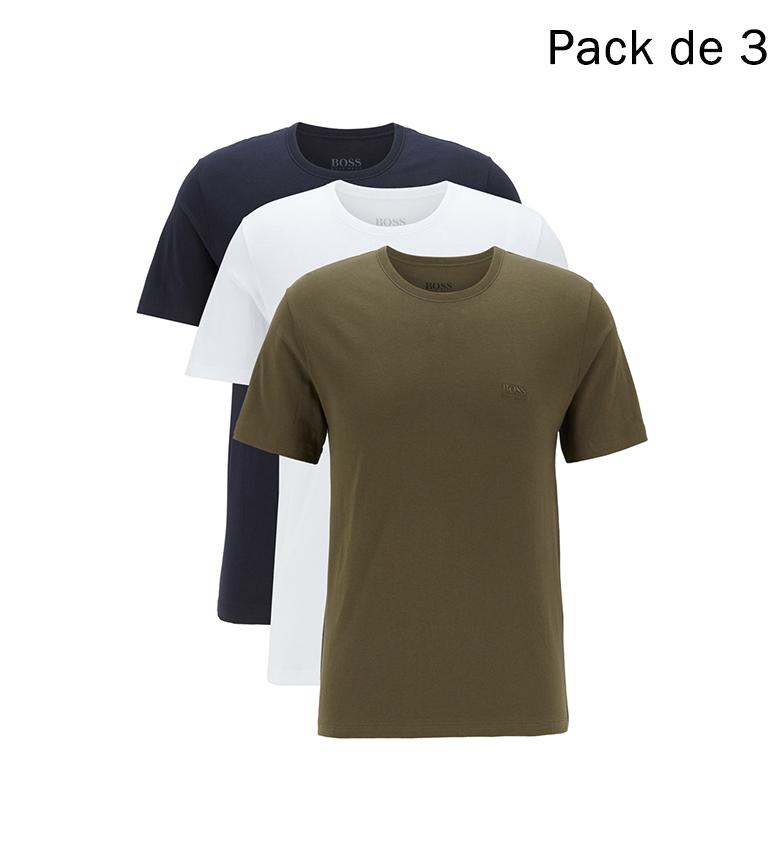 Comprar Hugo Boss Pack de 3 Camisetas RN CO 50325887 verde, marino, balnco