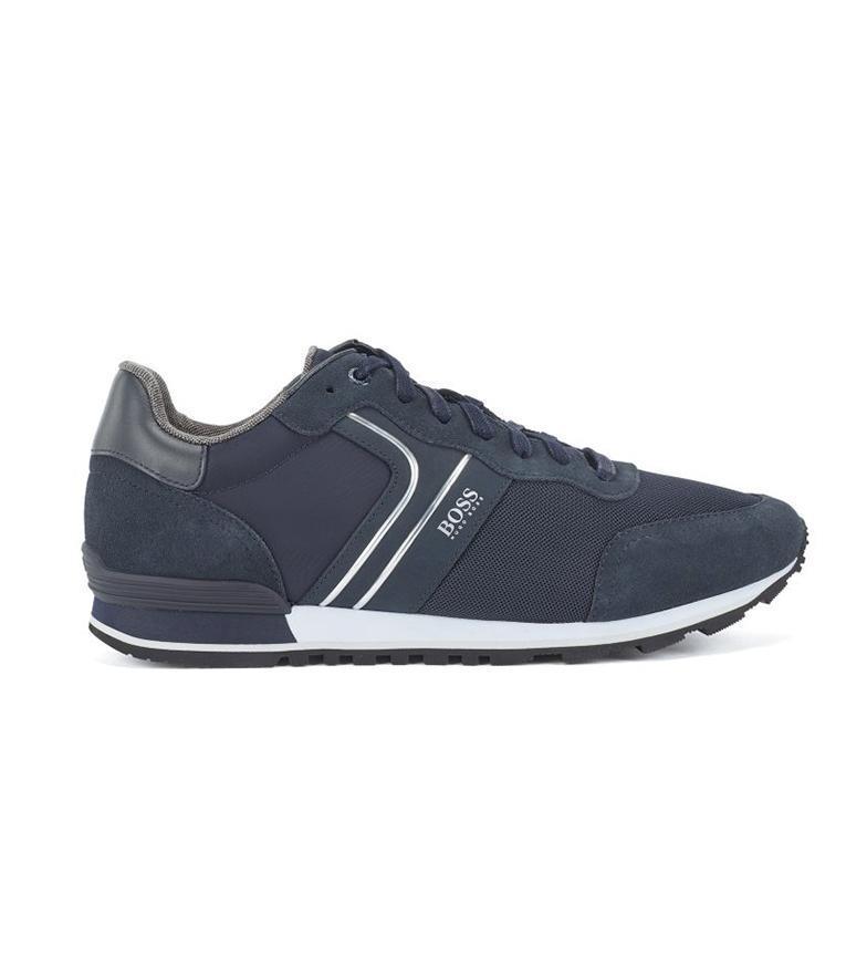 Hugo Boss Sneakers Parkour Runn in pelle blu