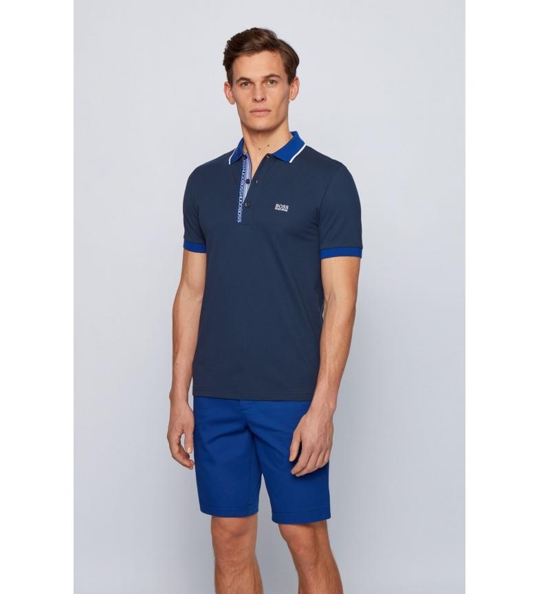 Comprar Hugo Boss Camisa Polo Slim Fit em Oxford Cotton Pique da Marinha