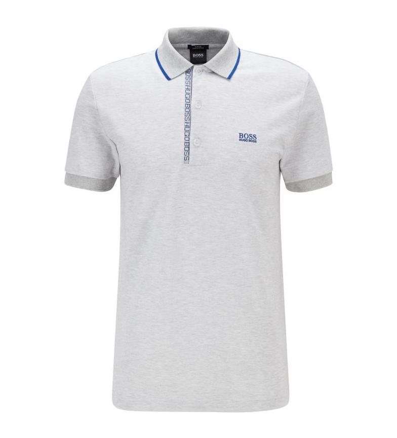 Comprar Hugo Boss Cotton Blend Polo Shirt with White Color Blocking