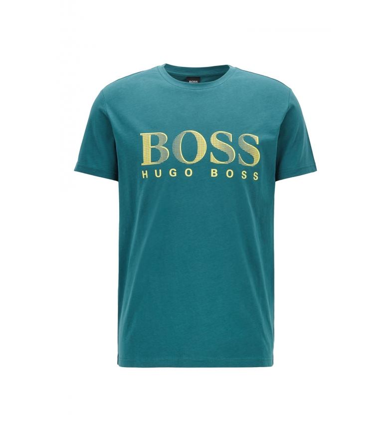 Comprar Hugo Boss T-Shirt en coton turquoise UPF 50+ à coupe relaxée