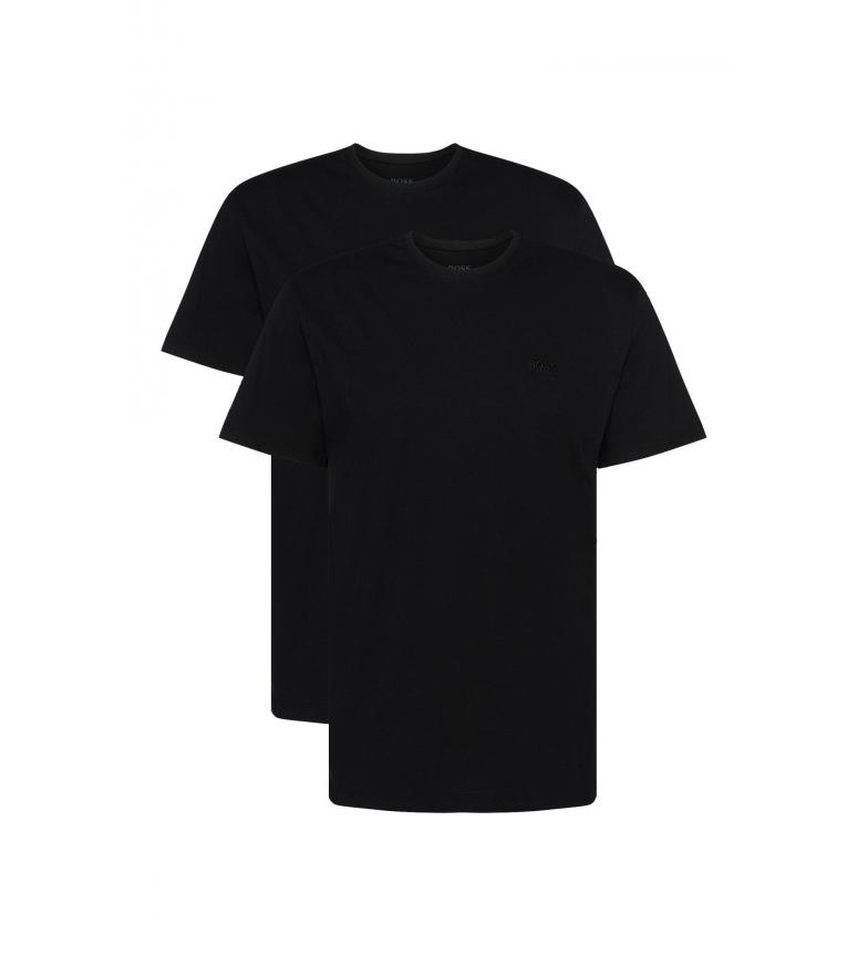 Comprar Hugo Boss Pacote de 2 camisolas interiores Cotton Crewneck pretas