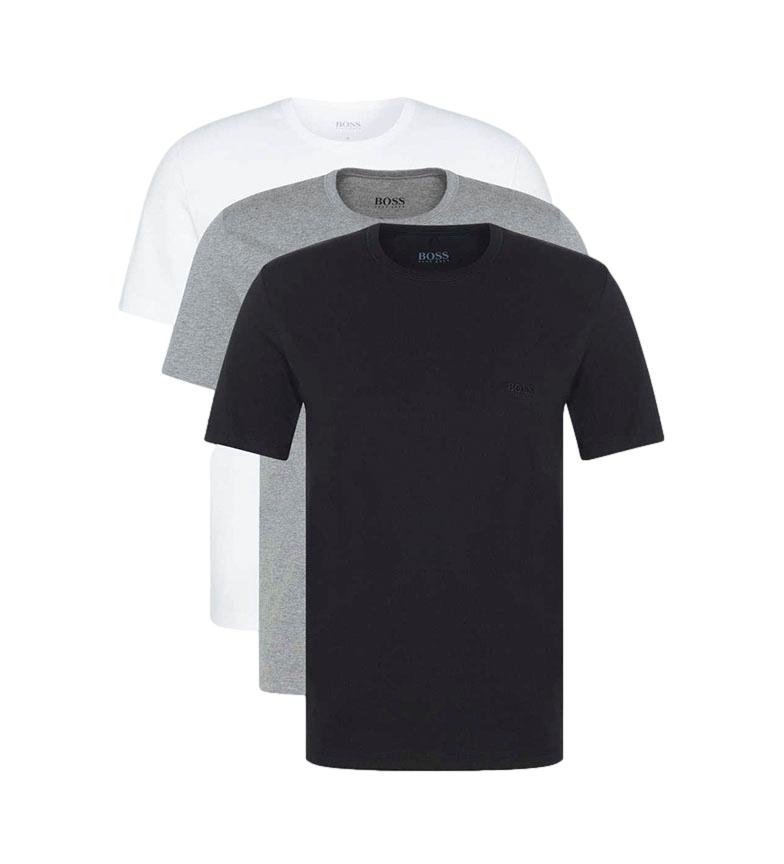 Hugo Boss Confezione da 3 magliette RN CO 50325388 nero, grigio, bianco