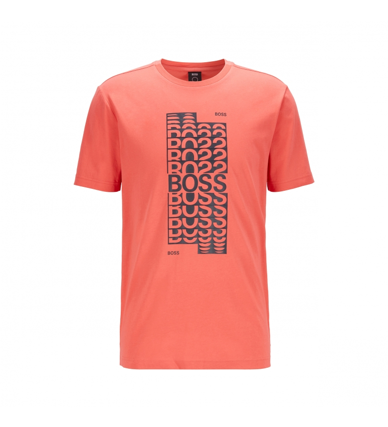 Comprar Hugo Boss T-Shirt en coton de coupe régulière avec logo rouge en couches