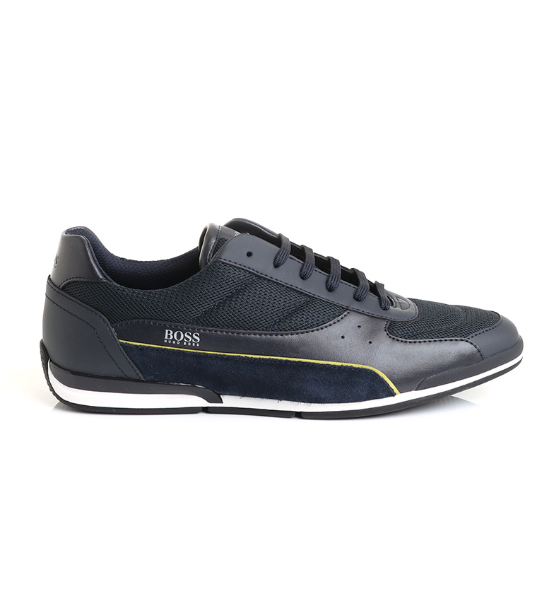 Hugo Boss Saturn Lowp leather shoes navy 50459307