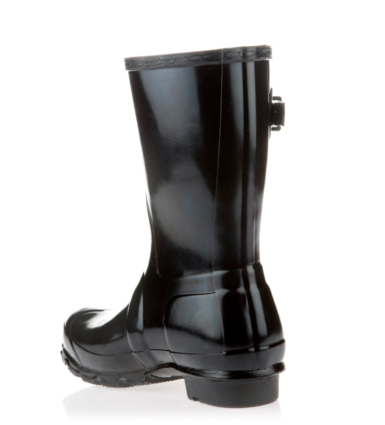Hunter Botas de agua Corta Gloss Original negro