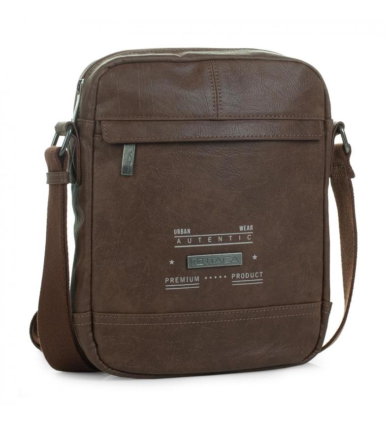 Comprar ITACA Saco de ombro grande para homem T26026 castanho -27x21x6cm