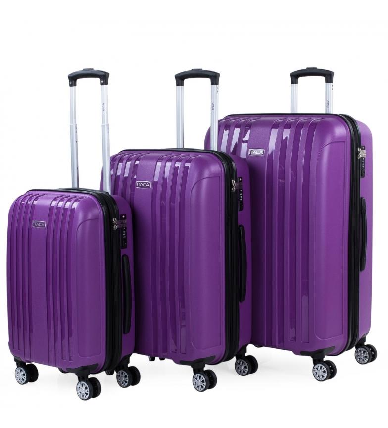 Comprar ITACA Set di 3 bagagli da viaggio rigidi espandibili 760200 moradi