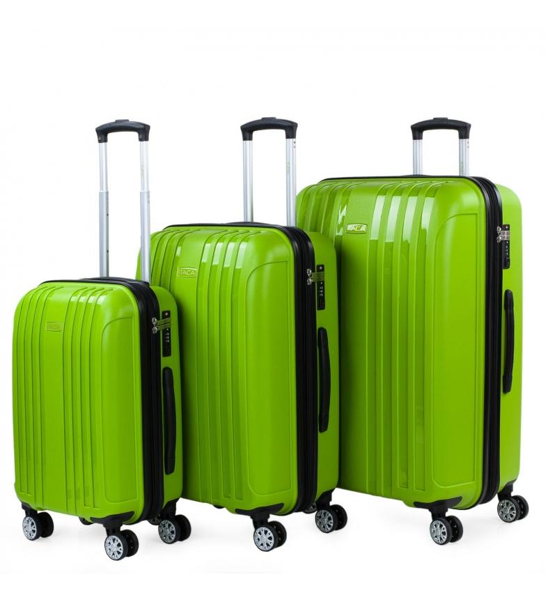 Comprar ITACA Set di 3 valigette da viaggio rigide espandibili 760200 pistacchio