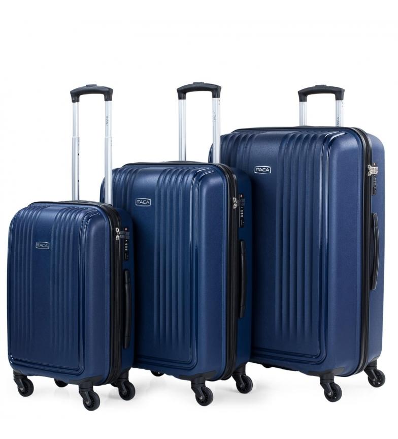 Comprar ITACA Set di 3 bagagli da viaggio rigidi marini 760300