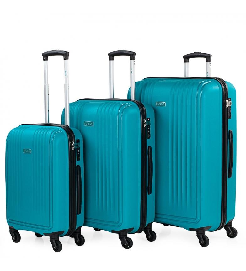 Comprar ITACA Set di 3 borse da viaggio rigide 760300 turchese
