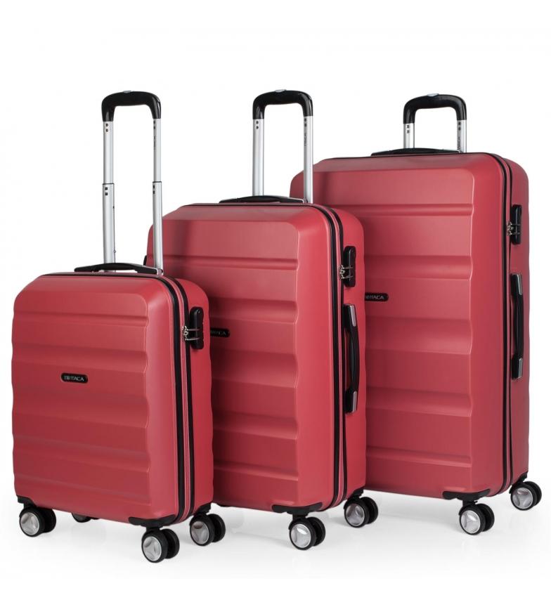 Comprar ITACA Set di borse da viaggio rigide a 4 ruote T71600 corallo -55x39x20cm