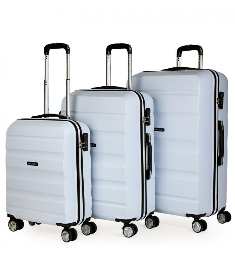 Comprar ITACA T71600 Set di valigetta da viaggio a 4 ruote con rivestimento rigido bianco -55x39x20cm