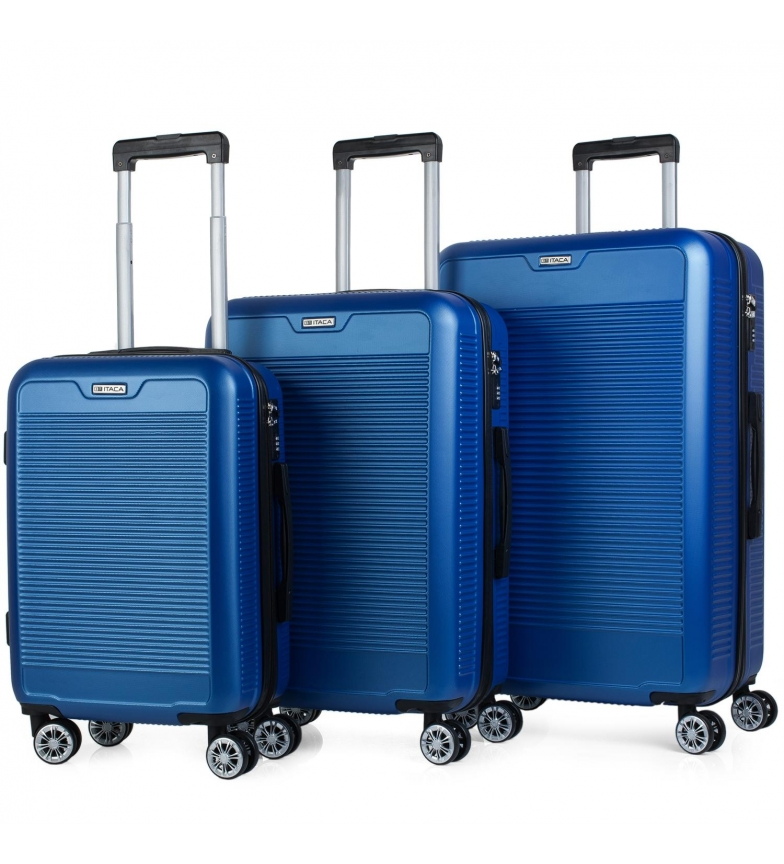 Comprar ITACA Mallette de voyage à 4 roues à parois rigides T72000 bleu -55x38x20cm