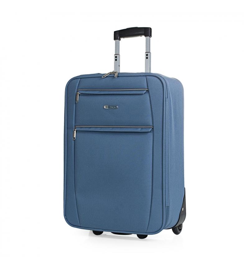 Comprar ITACA Mallette de voyage à 2 roues T71950 cowboy bleu -55x39x18cm