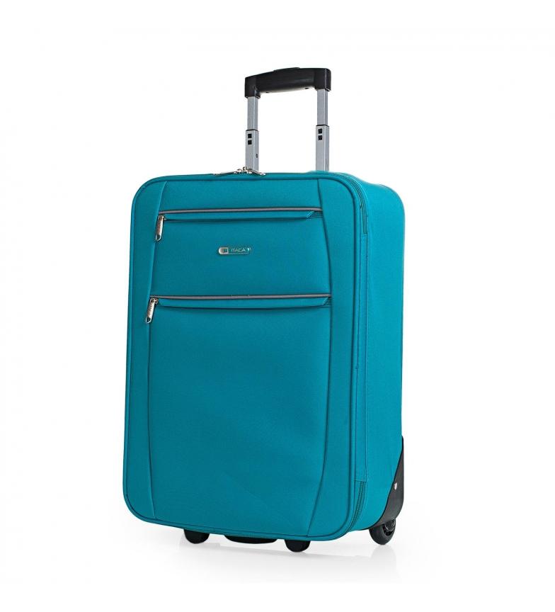 Comprar ITACA Maleta Cabina de Viaje 2 Ruedas T71950 turquesa -55x39x18cm-
