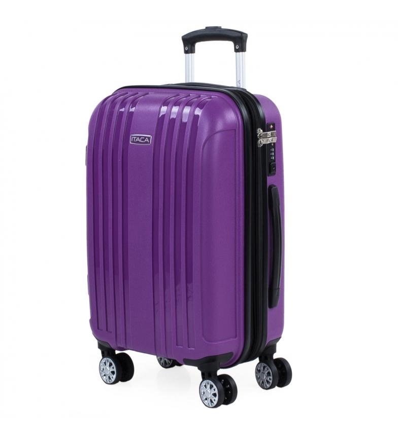 Comprar ITACA Medium Expandable Hard Case with 4 Wheels 760250 purple -39.5x55x21cm