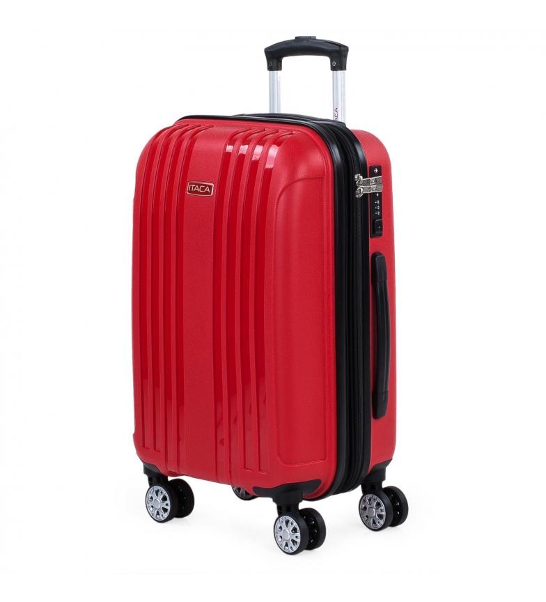 Comprar ITACA Custodia rigida espandibile media con 4 ruote 760250 rosso -39,5x55x21cm