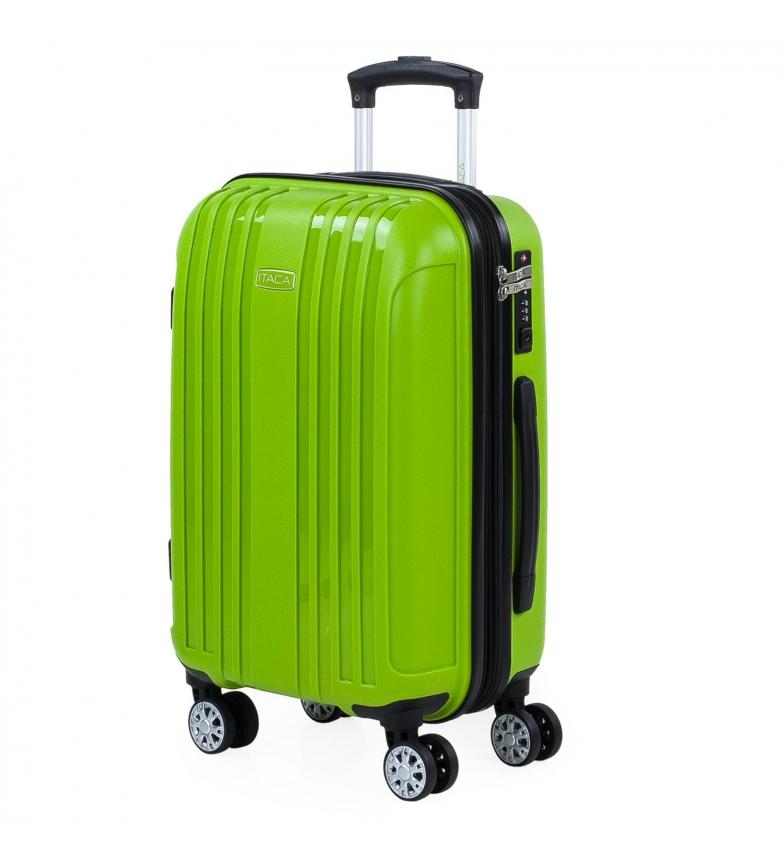 Comprar ITACA Valigia rigida media espandibile con 4 ruote 760250 pistacchio -39,5x55x21cm