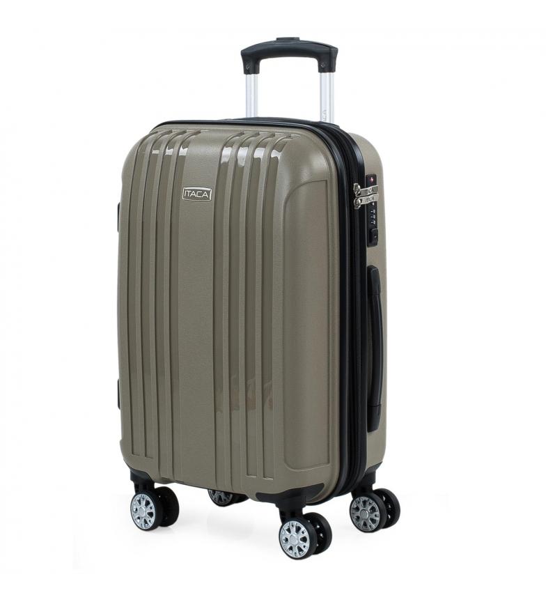 Comprar ITACA Custodia rigida espandibile media con 4 ruote 760250 beige -39,5x55x21cm