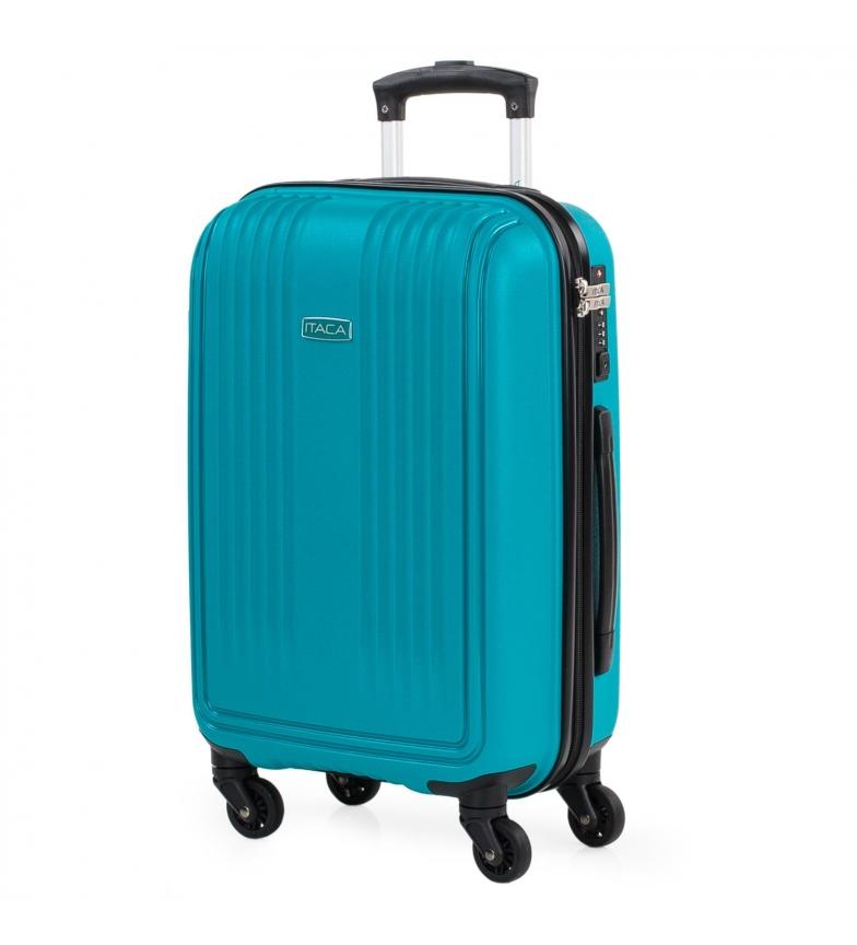 Comprar ITACA Valigia da viaggio Rigido a 4 ruote dimensioni cabina 760350 turchese -39,5x55x21cm