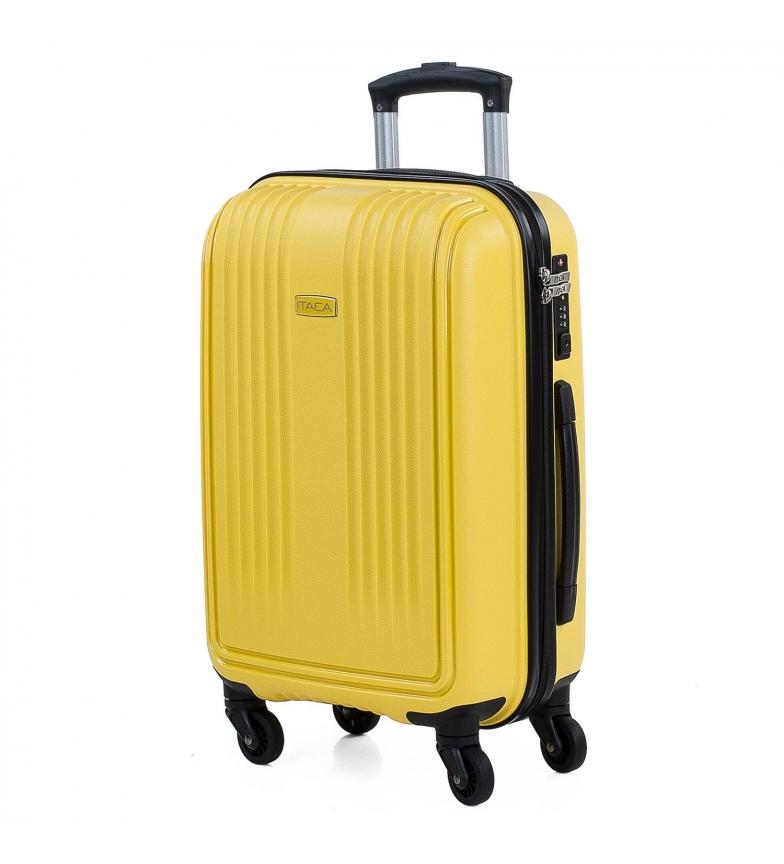 Comprar ITACA Valigetta da viaggio Rigido a 4 ruote dimensioni cabina 760350 senape -39,5x55x21cm