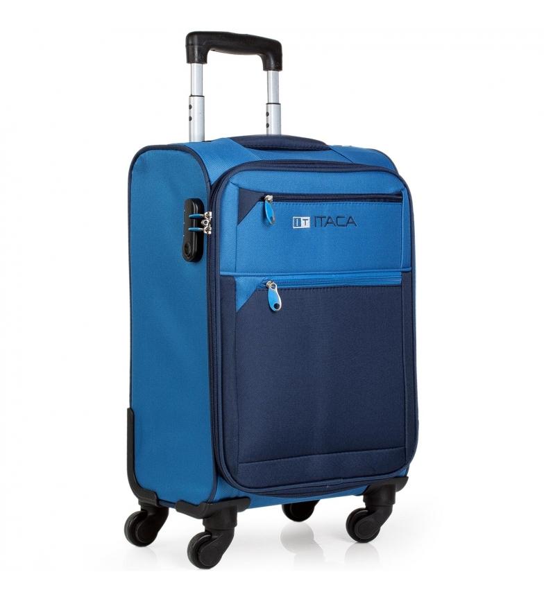 ITACA Suitcase Thames 701050 blue -54x35x20cm
