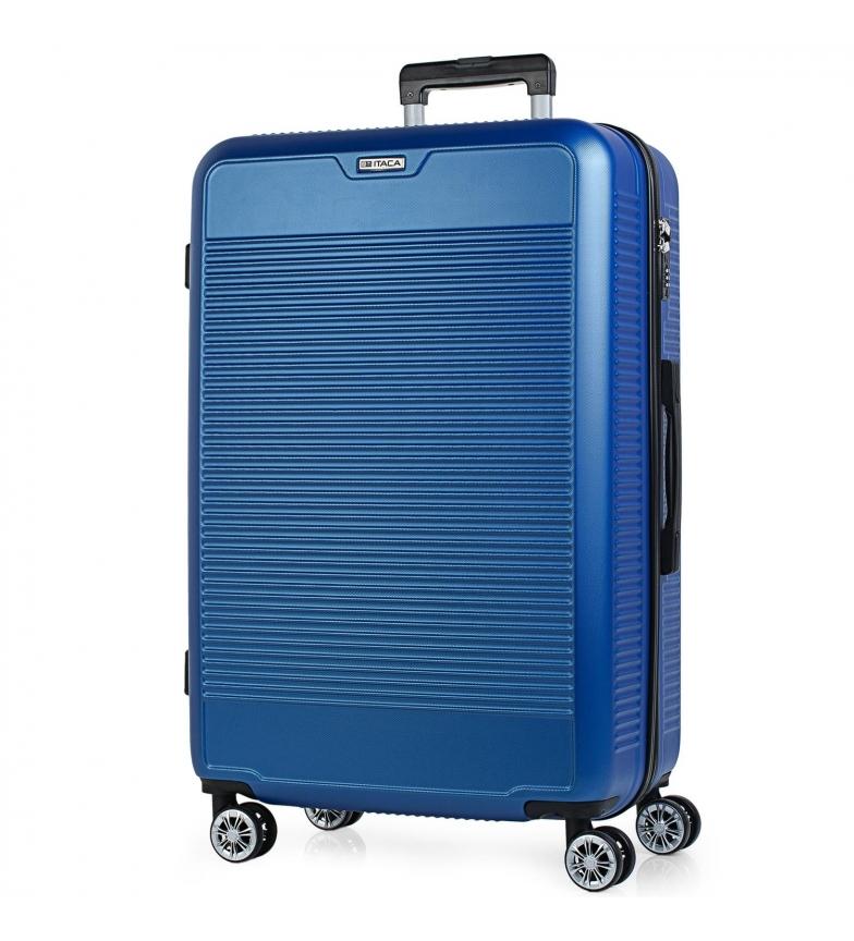 Comprar ITACA Grande valise de voyage rigide à 4 roues T72070 bleu -76x50x31cm