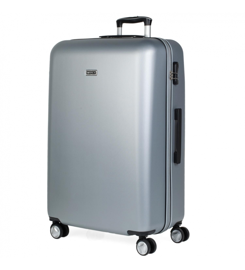 ITACA Grand sac de voyage XL Trolley T58070 argent -76x48x29cm