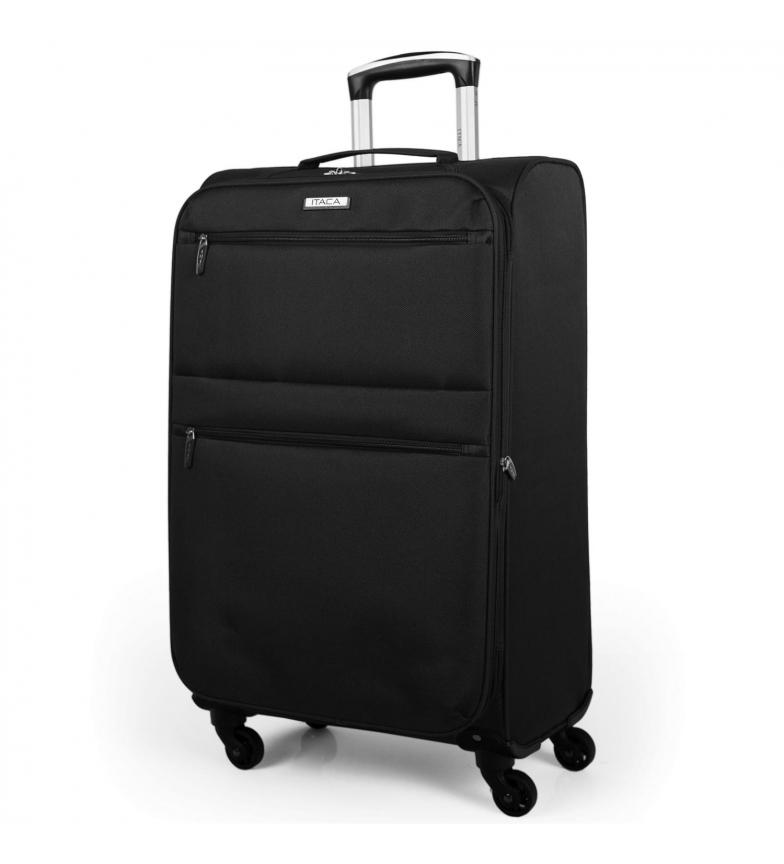 Comprar ITACA Maleta de Viaje Mediana Blanda de 4 Ruedas I52760 negro -68x40x23cm-