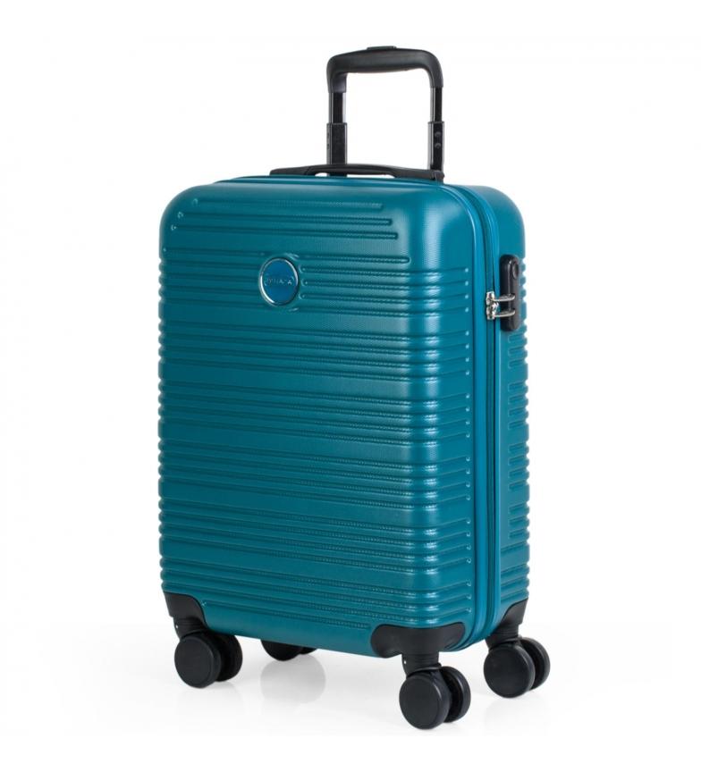 Comprar ITACA Maleta de Viaje de Cabina Rígida 4 Ruedas T72150 verde oscuro -55x40x20cm-