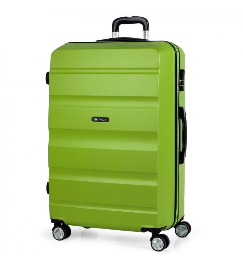 Comprar ITACA Valigia da viaggio 4 ruote grandi XL T71670 pistacchio -77x48x29cm