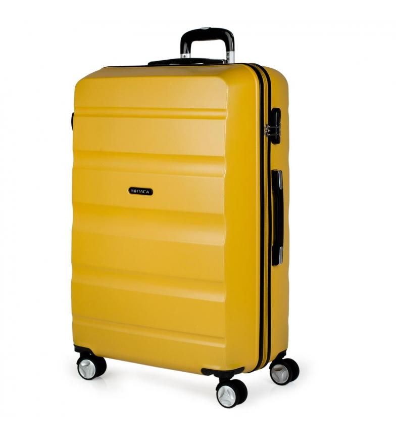 Comprar ITACA 4 Wheeled Large Travel Case XL T71670 mustard -77x48x29cm