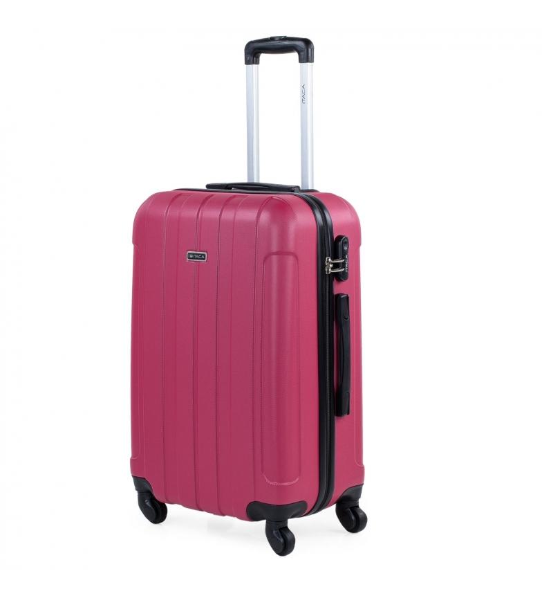 Comprar ITACA Valigia da viaggio media rigida a 4 ruote 771160 fragola -63x42x24cm