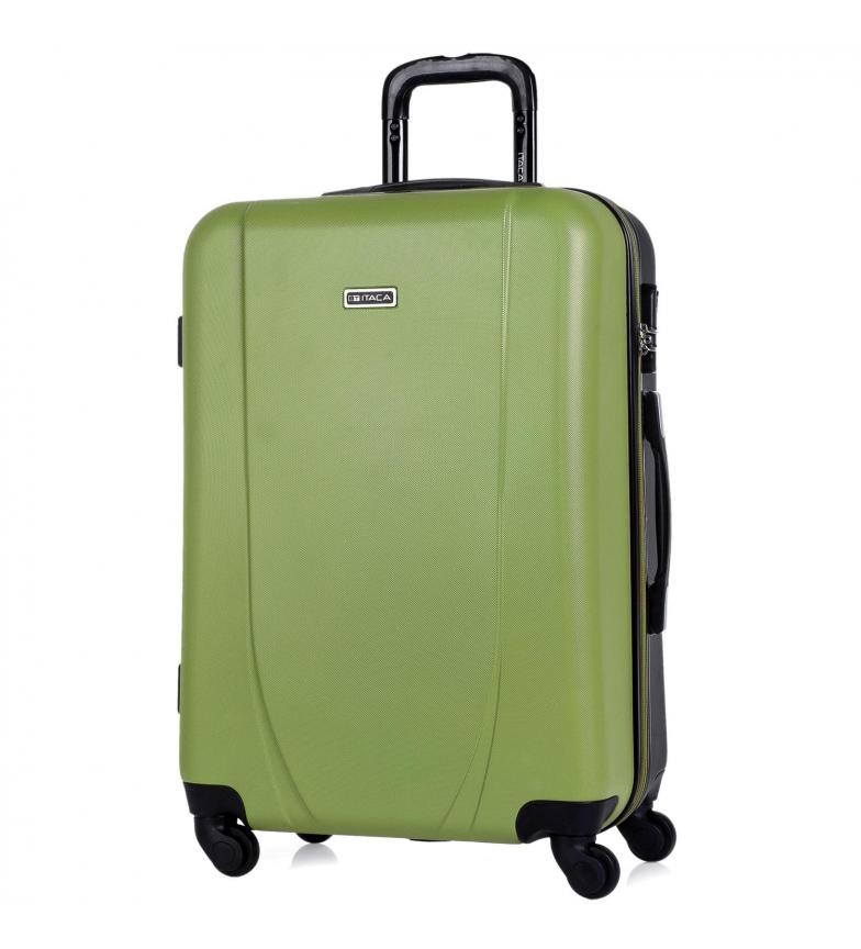 Comprar ITACA Caixa de 4 Rodas Média 71160 pistachio, antracite -65x44x24cm