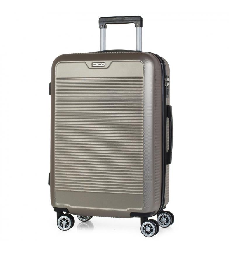 Comprar ITACA Mallette de voyage rigide moyenne à 4 roues T72060 or -66x44x25cm